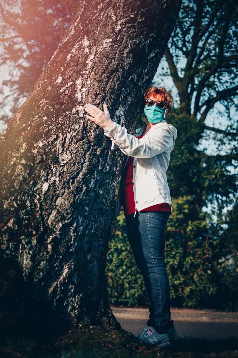 Masked Tree Hugger